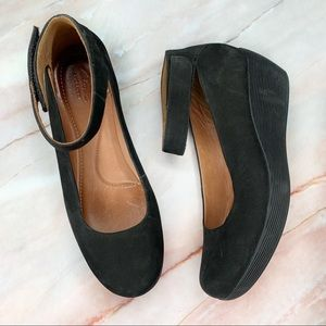 Clark's Wynnmere Fox Ankle Strap Wedge Heels 8.5